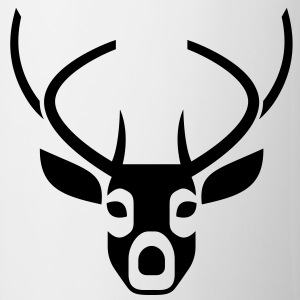 Deer Head 2 (1c)++ T-shirts - Mok