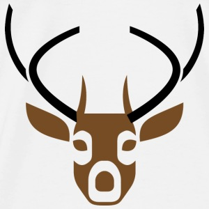Deer Head 2 (dd)++ Sweatshirts - Herre premium T-shirt