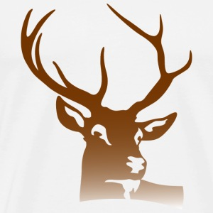 Deer Head (dd)++ Bags  - Men's Premium T-Shirt