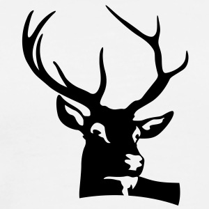 Deer Head (1c)++ Gensere - Premium T-skjorte for menn