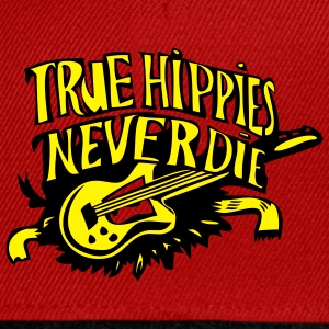 true hippies never die - Snapback Cap