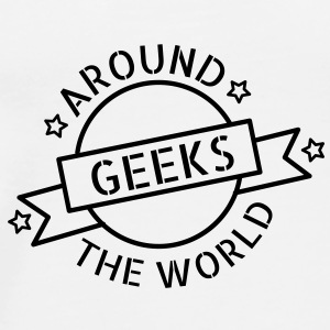 Geeks around the world Bottles & Mugs - Men's Premium T-Shirt