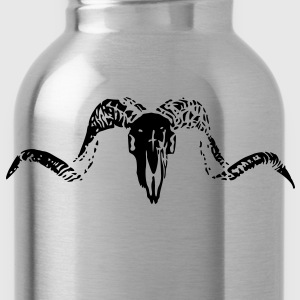 goat black skull T-Shirts - Water Bottle