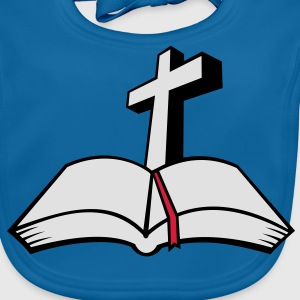 cross open bible 3c T-Shirts - Baby Bio-Lätzchen