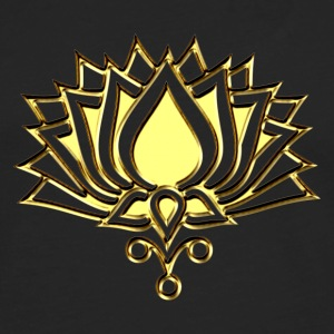 GOLDEN LOTUS/ c /symbol of divinity, enlightenment and higher consciousness/ LOTOS I T-Shirts - Men's Premium Longsleeve Shirt