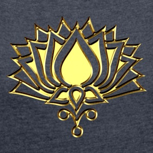 GOLDEN LOTUS/ c /symbol of divinity, enlightenment and higher consciousness/ LOTOS I Hoodies & Sweatshirts - Women's T-shirt with rolled up sleeves