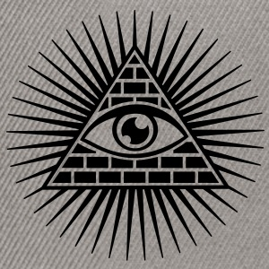 all seeing eye -  eye of god / pyramid - symbol of Omniscience & Supreme Being Sweaters - Snapback cap