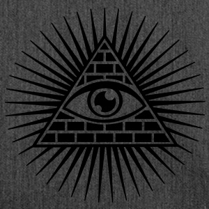 all seeing eye -  eye of god / pyramid - symbol of Omniscience & Supreme Being Sudadera - Bandolera de material reciclado