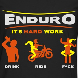 Enduro - It's hard work FlexDruck HQ - Männer Premium Langarmshirt