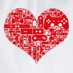 Gamer heart - Drawstring Bag