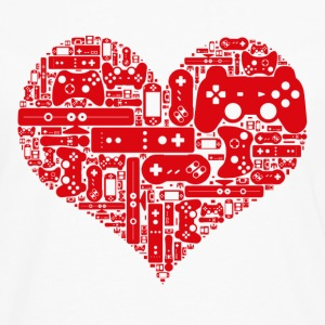 Geek love - Gamer heart - T-shirt manches longues Premium Homme