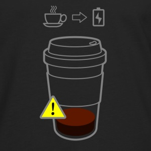 Warning Coffee Low - Männer Premium Langarmshirt