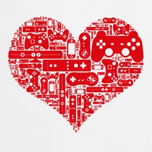 Gamer heart Love video games - Förkläde