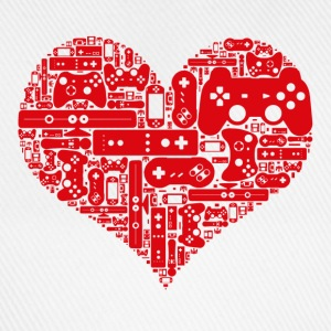 Gamer heart Love video games - Basebollkeps