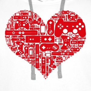 Gamer heart - Premium hettegenser for menn