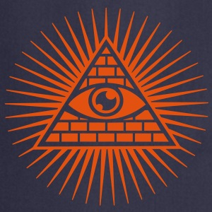 all seeing eye -  eye of god / pyramid - symbol of Omniscience & Supreme Being T-shirts - Keukenschort