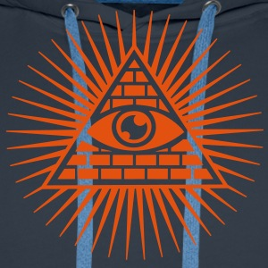 all seeing eye -  eye of god / pyramid - symbol of Omniscience & Supreme Being T-Shirts - Men's Premium Hoodie