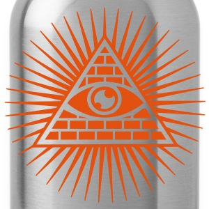 all seeing eye -  eye of god / pyramid - symbol of Omniscience & Supreme Being T-Shirts - Water Bottle