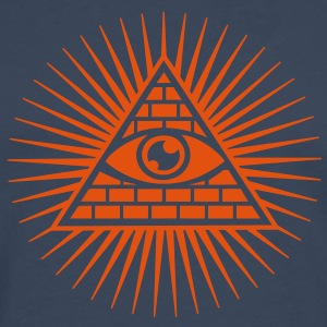 all seeing eye -  eye of god / pyramid - symbol of Omniscience & Supreme Being T-Shirts - Men's Premium Longsleeve Shirt