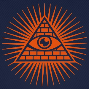 all seeing eye -  eye of god / pyramid - symbol of Omniscience & Supreme Being Sweaters - Baseballcap