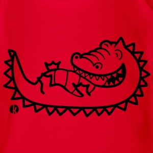 Krokodil - Crocodile Shirts - Organic Short-sleeved Baby Bodysuit
