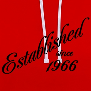 Established since 1966 T-shirts - Contrast hoodie