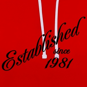 Established since 1981 T-shirts - Contrast hoodie