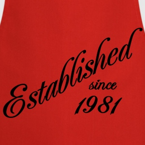 Established since 1981 Tee shirts - Tablier de cuisine