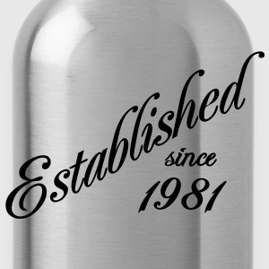 Established since 1981 T-shirts - Drinkfles