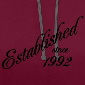 Established since 1992 T-shirts - Contrast hoodie