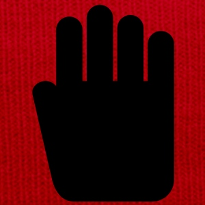 Hand pictogramm, stop signal - Winter Hat