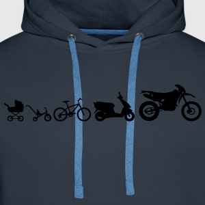 Moto Evolution Endurocross  Tee shirts - Sweat-shirt à capuche Premium pour hommes