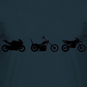 Chopper motorcykel racing Endurocross  Sweatshirts - Herre-T-shirt