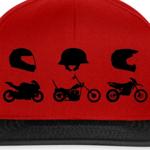 Chopper motorsport helm met Endurocross  T-shirts - Snapback cap