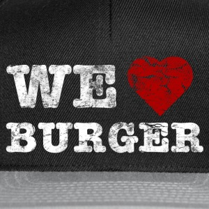 we_love_burger_vintage_hell Camisetas - Gorra Snapback