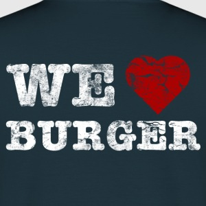 we_love_burger_vintage_hell Sweat-shirts - T-shirt Homme