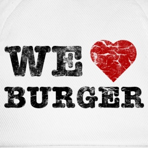 we_love_burger_vintage Camisetas - Gorra béisbol