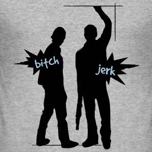 Supernatural Bitch & Jerk - Männer Slim Fit T-Shirt