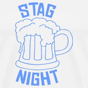 Sky/navy Stag Night Long sleeve shirts - Men's Premium T-Shirt