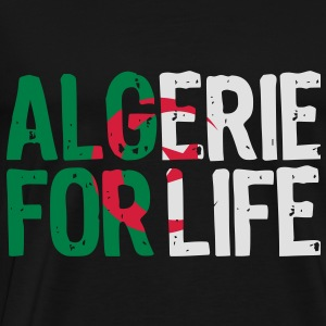 Algerie for life grunge vect Sweat-shirts - T-shirt Premium Homme