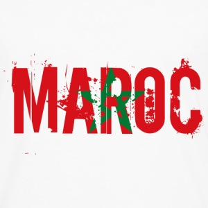 logo_flag_grunge_maroc Sweat-shirts - T-shirt manches longues Premium Homme