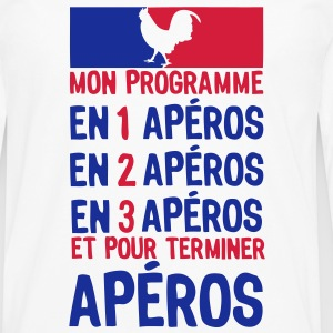 apero alcool election gouvernement progr Tee shirts - T-shirt manches longues Premium Homme