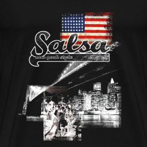 salsa your live  - Mannen Premium T-shirt