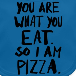 I am Pizza T-Shirts - Baby Bio-Lätzchen