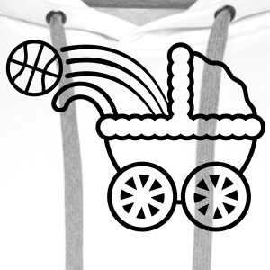 born_to_play_basketball T-skjorter - Premium hettegenser for menn