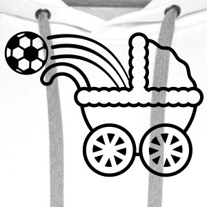 born_to_play_soccer T-skjorter - Premium hettegenser for menn