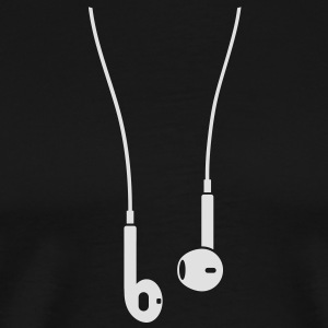 Phone/Pod 5 earphones 1clr  Aprons - Men's Premium T-Shirt