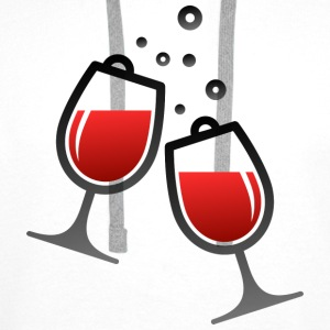 Wine Glasses (dd)++ T-Shirts - Men's Premium Hoodie