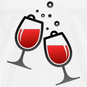 Wine Glasses (dd)++ Sweaters - Mannen Premium T-shirt