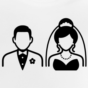 Wedding Couple (1c)++ Camisetas - Camiseta bebé